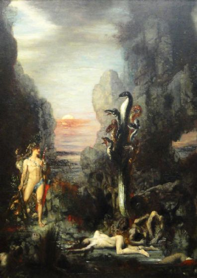 Moreau, Gustave: Hercules and the Lernaean Hydra. Fine Art Print/Poster (4926)